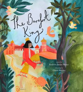 Cover image for The Barefoot King - a king holding his foot