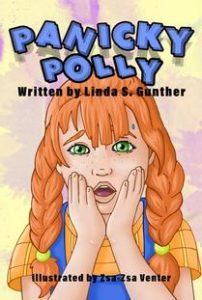 Cover image for Panicky Polly - a red-haired girl with her hands on her face
